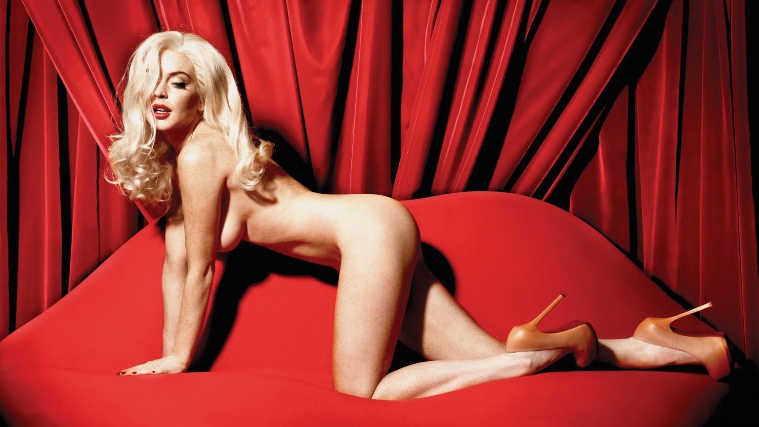 Lindsay Lohan Channels Marilyn