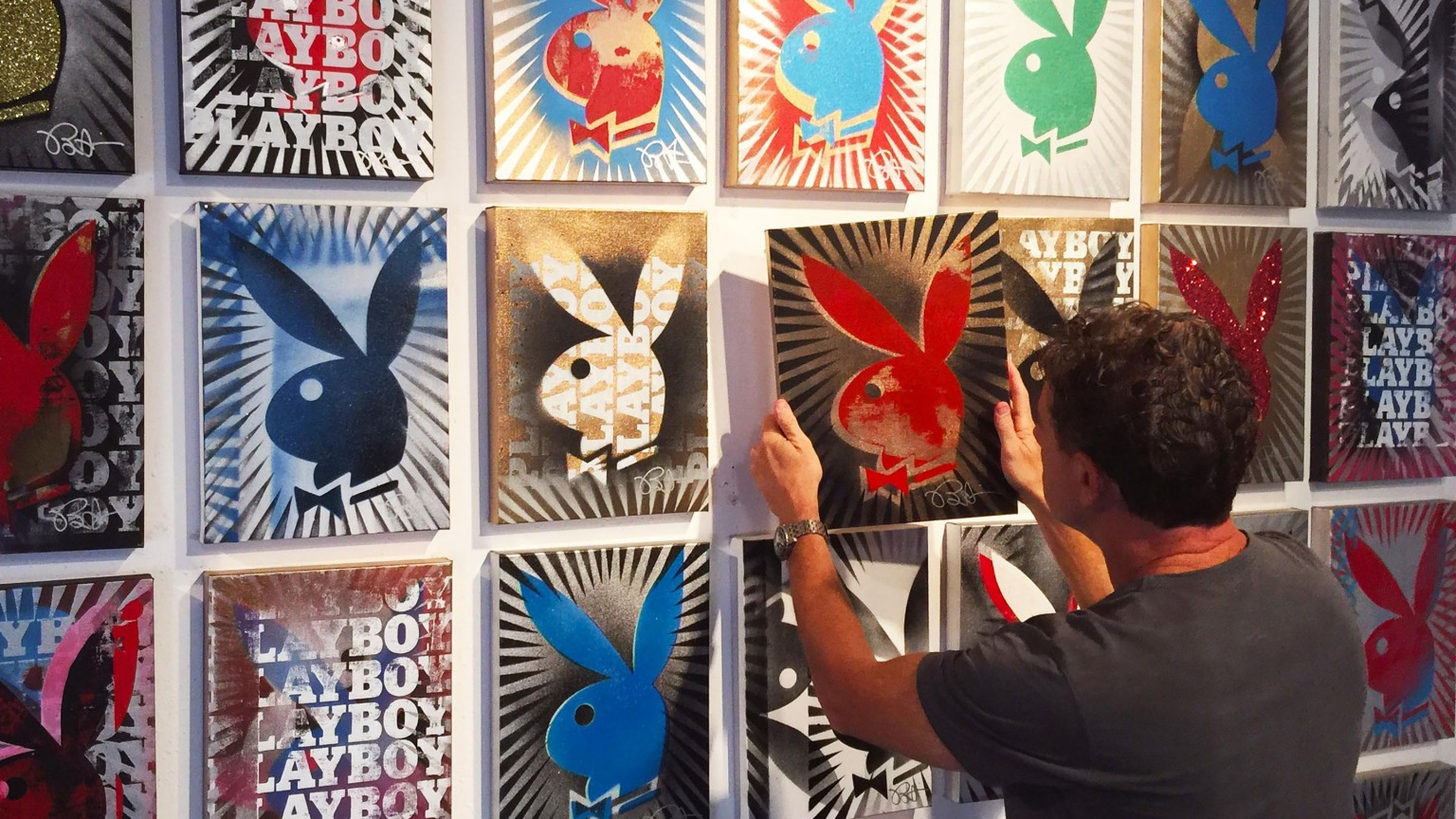 Step Inside 'Painting Playboy' by Pop Artist Icon Burton Morris
