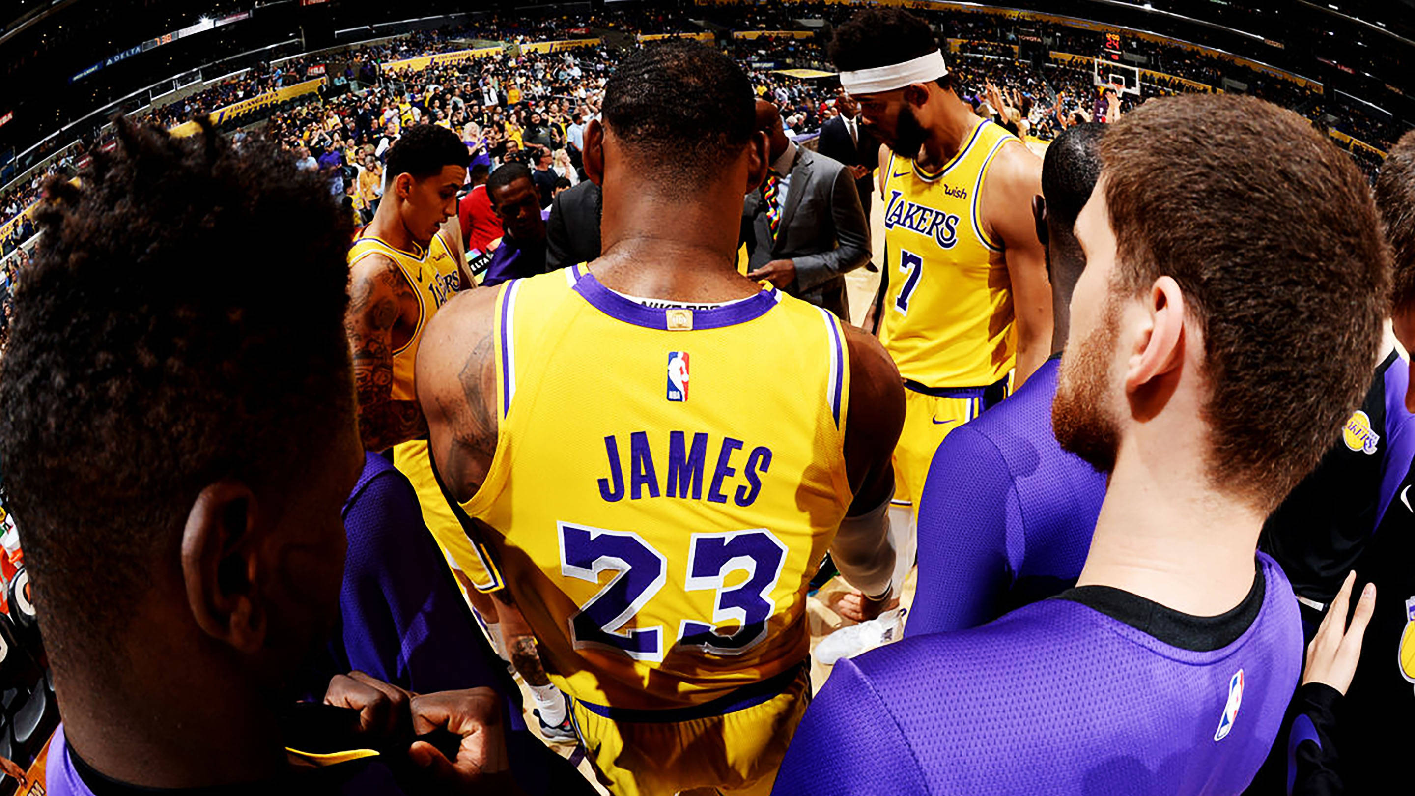 LeBron James and the NBA's Los Angeles Lakers