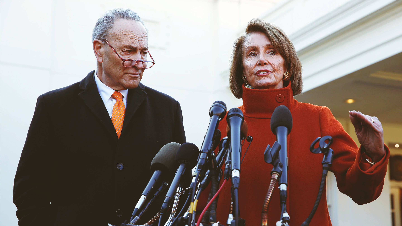 Nancy Pelosi and Chuck Schumer speak on Trump's 2018 shutdown