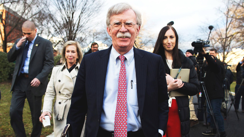 John Bolton briefs press on the Trump economy and Venezuela.