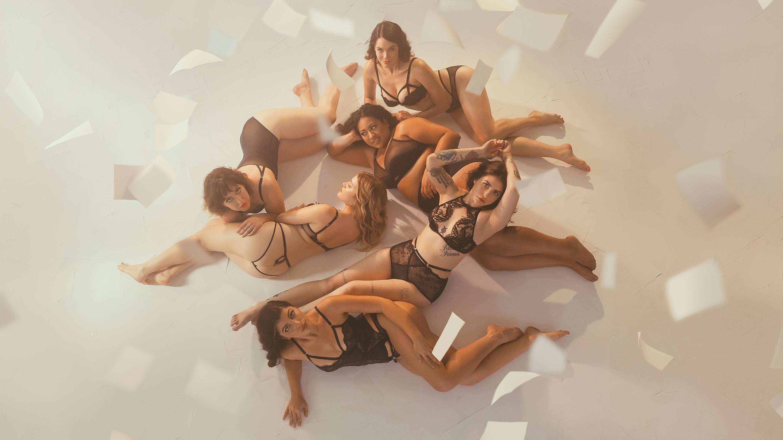 Andrea Werhun, Taylor Ferber, Bruna Nessif, Sofia Barrett-Ibarria, Helen Donahue, Megan Stubbs pose for Playboy