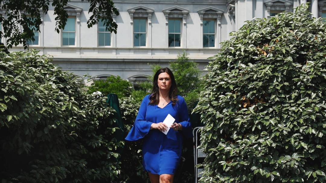 An Ode to Sarah Huckabee Sanders From the 'Enemy'