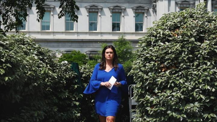 An Ode to Sarah Huckabee Sanders From the Enemy