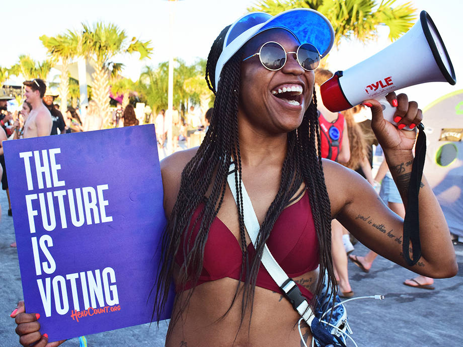 The Right Note for 2020? Getting Out the Vote At Music Festivals