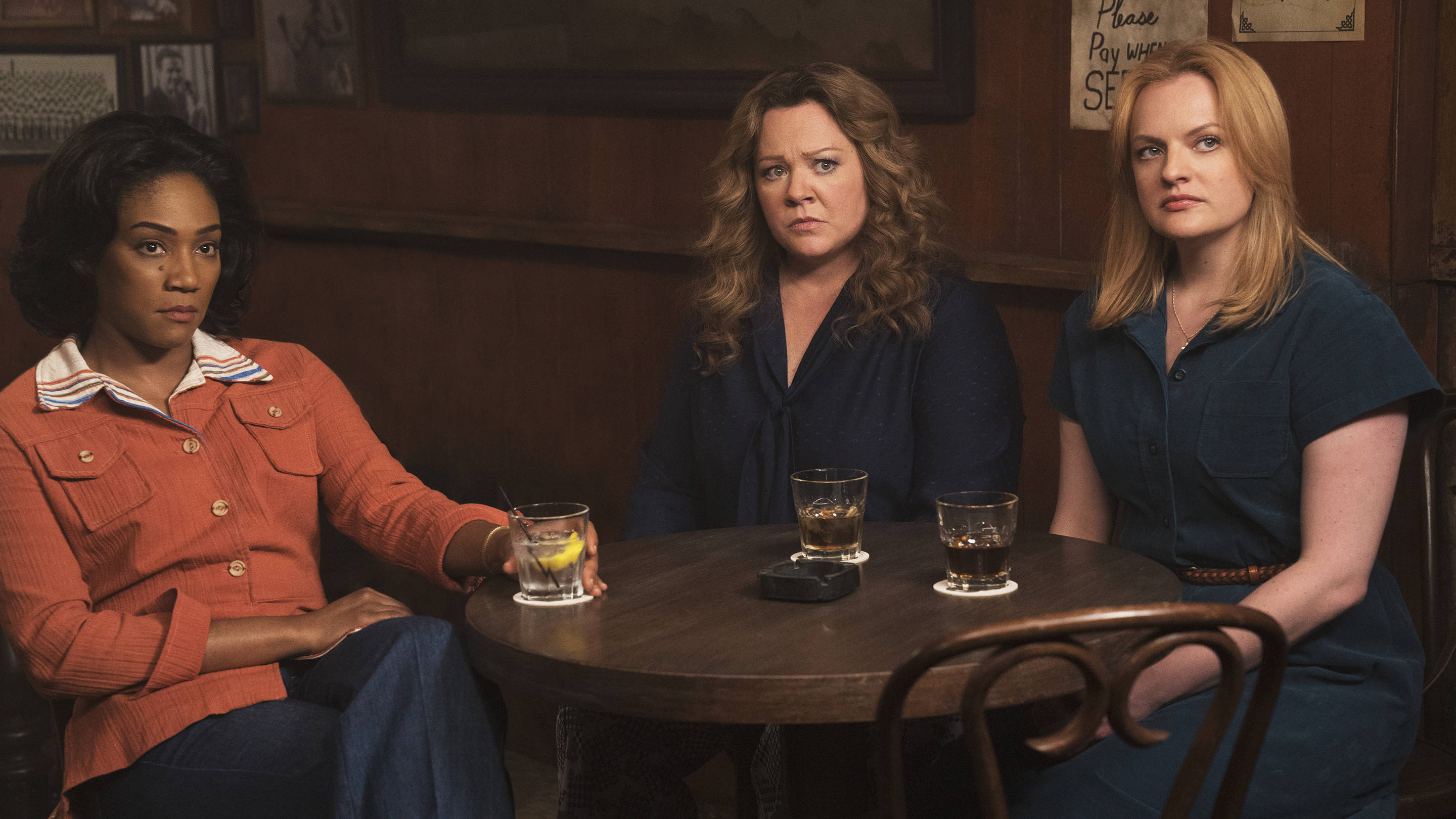 Melissa McCarthy, Tiffany Haddish and Elisabeth Moss in The Kitchen