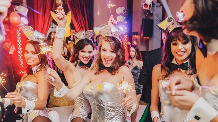 Bunnies, Bubbly and a Ball Drop: Playboy Welcomes 2018 With Pizzazz