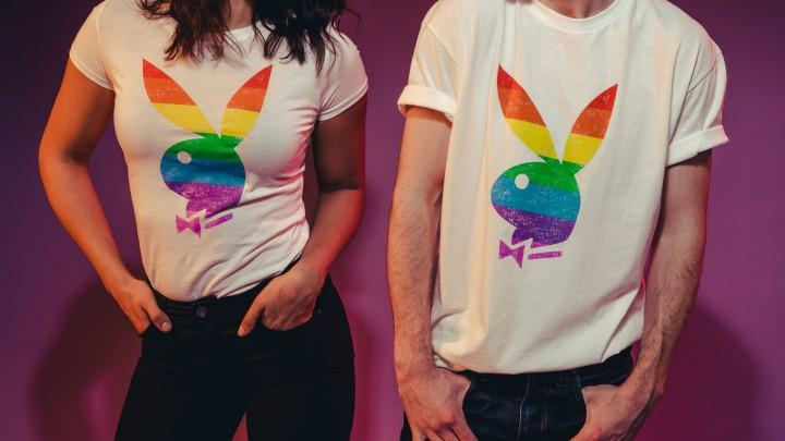 Playboy Pride: Celebrate Love With Our Rainbow Rabbit Head Tees