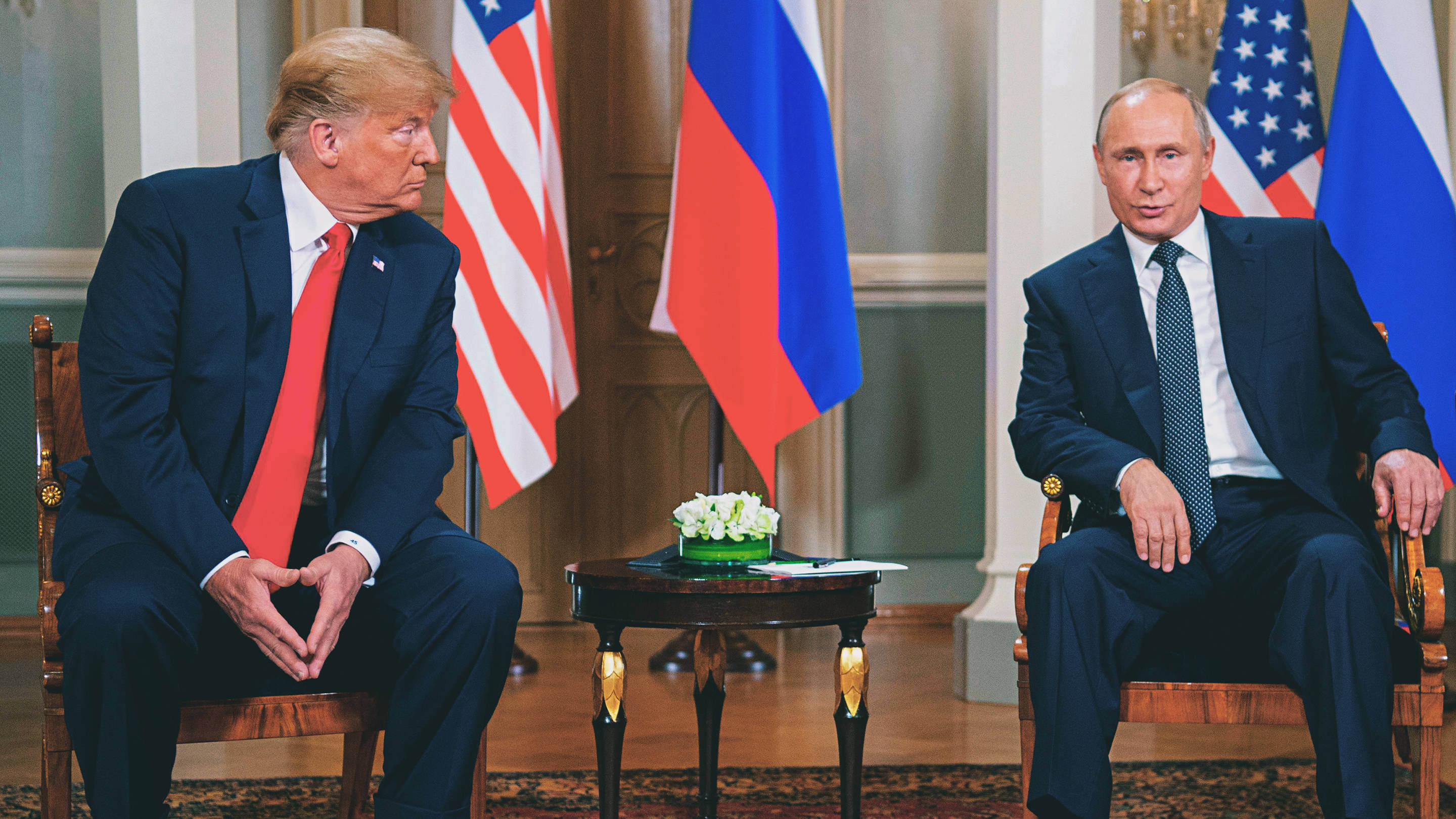 Donald Trump Vladimir Putin Helsinki Summit